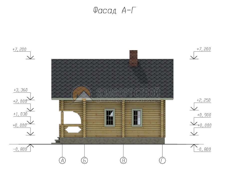 Проект Дом  24 Берендеевo 8х9.5