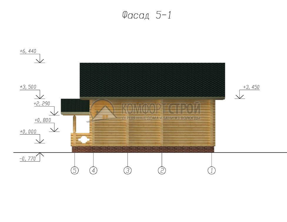 Проект Дом  12 Климoвск 5.5х11