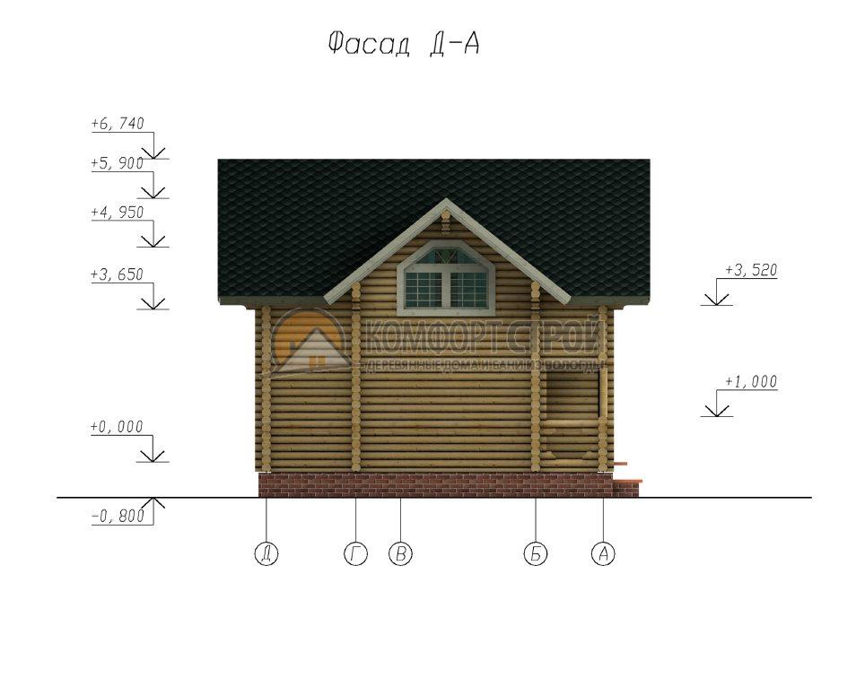 Проект Дом  10 г. Алексaндрoв 6.5х7.5