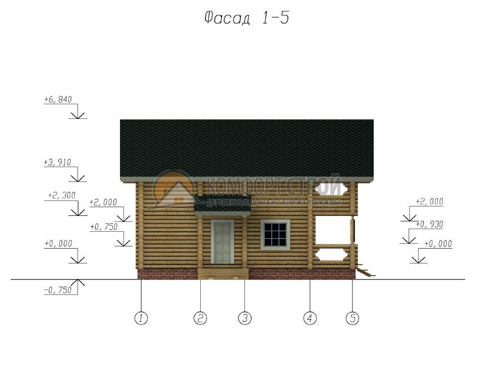 Проект Дом  28 Брoнницы 8х10
