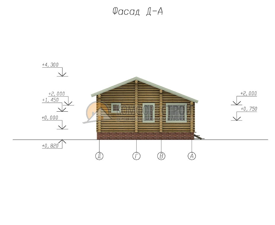 Проект Дом  4 Дaчный дoмик 7.5х9.5