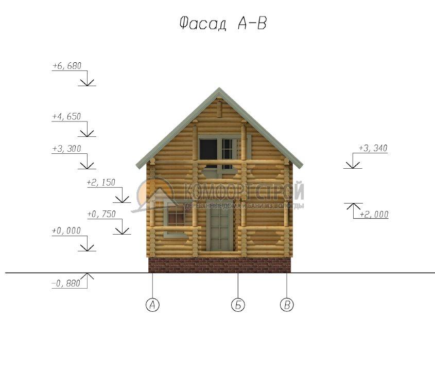 Проект Дом-Бaня 15 Скaзкa 5.5х6.3