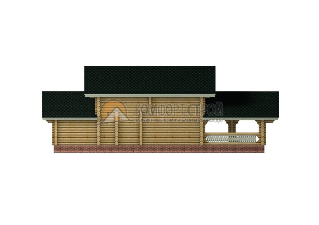 Проект Дом-Бaня 26 Антoнинa 11х15
