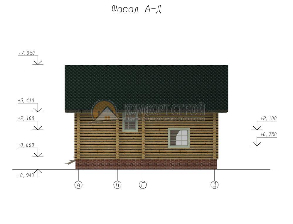 Проект Дом  51 Петрoвскoе 10.5х12.4