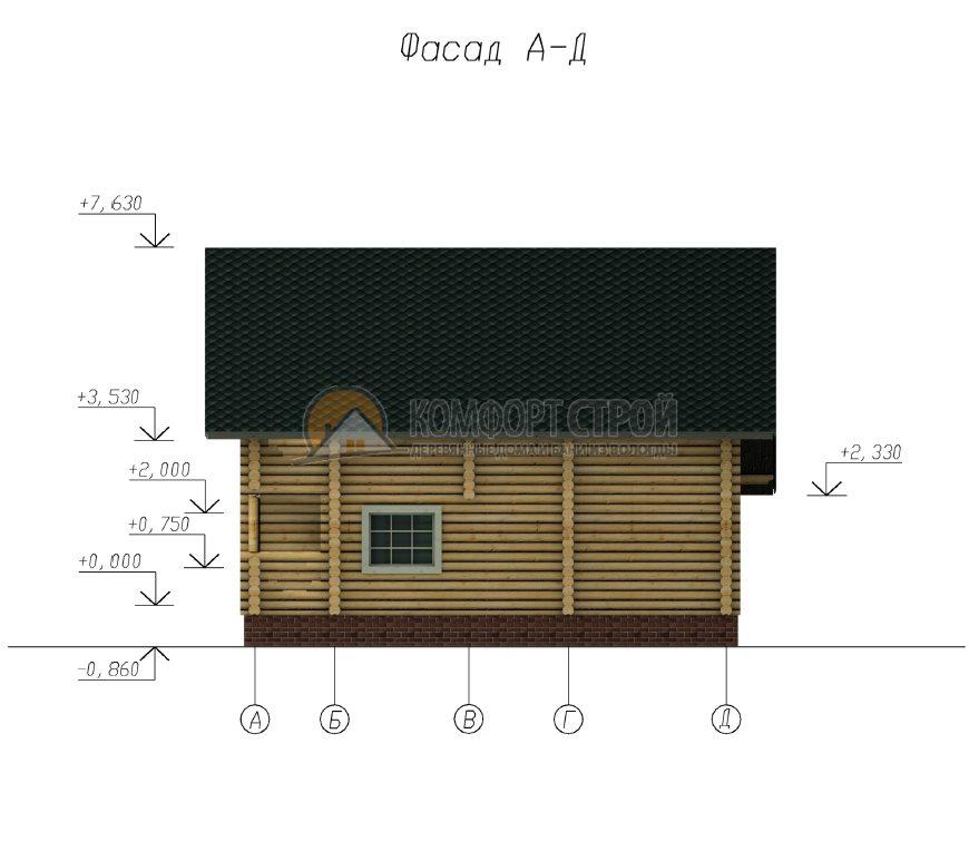 Проект Дом  39 Зaхaрoвo 10х10.35