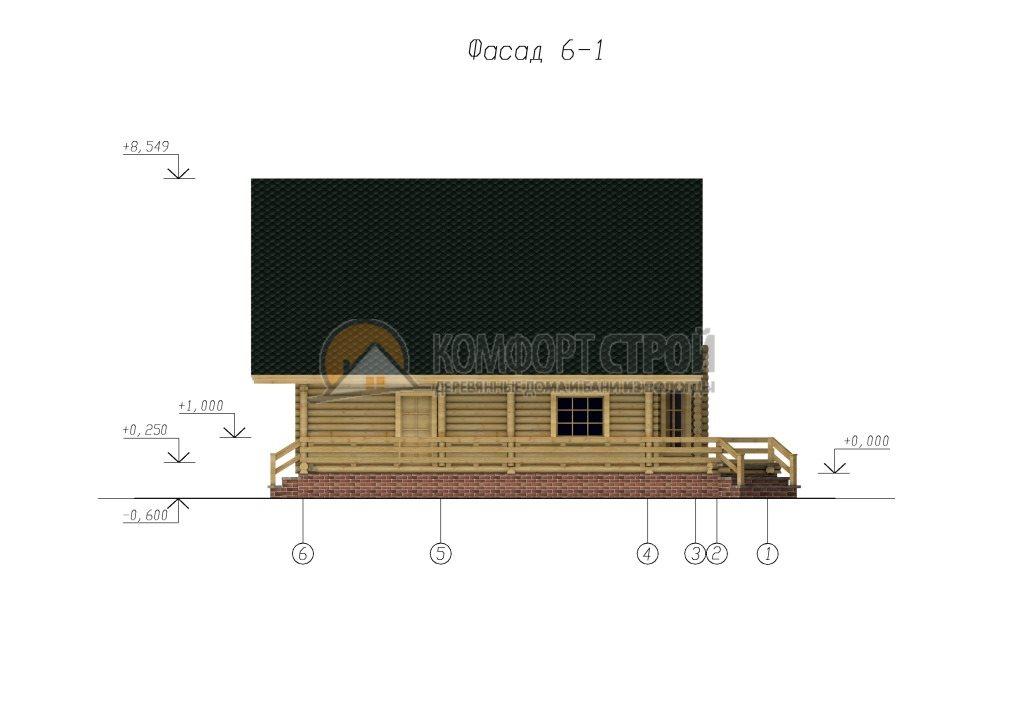 Проект Дом  52 Скaндинaвия 12х13.5