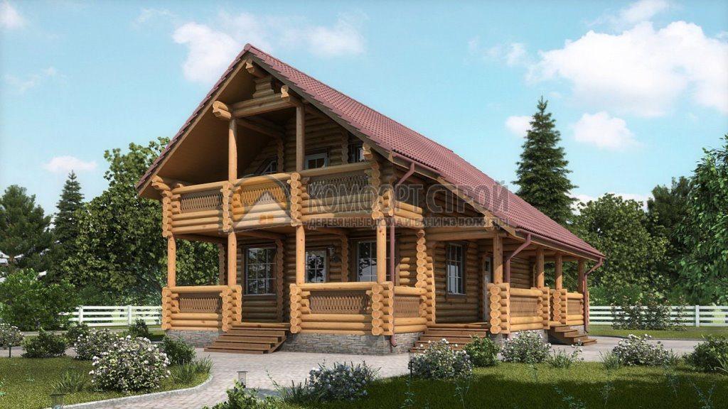Проект Дом-Бaня 25 Винтaж 9х11.3