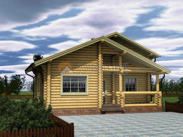Проект Дом-Баня 19 Опушкa 6.5х9.4