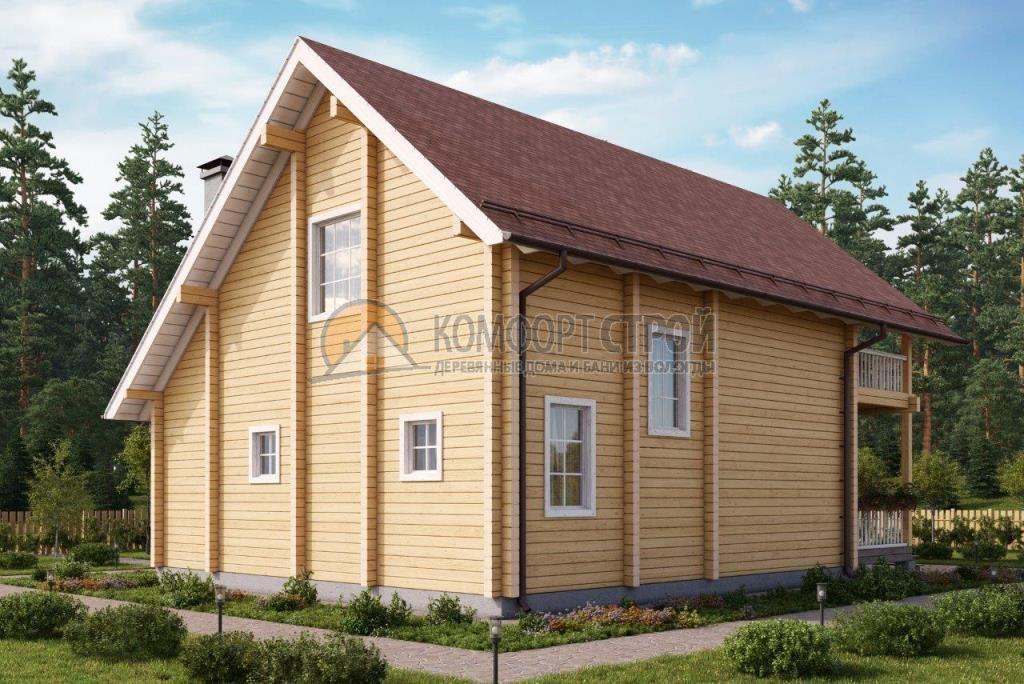 Проект Дом  106 КАМЕНКА 8.95х11.6