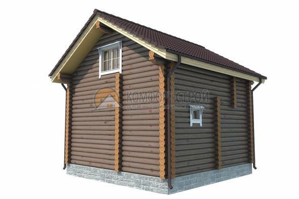 Проект Дом-Баня 117 САТИНО 5.75х5.75