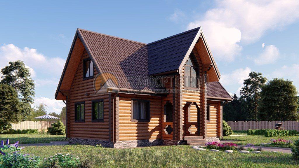 Проект Дом 172 Нефедьево 6,9х9,2