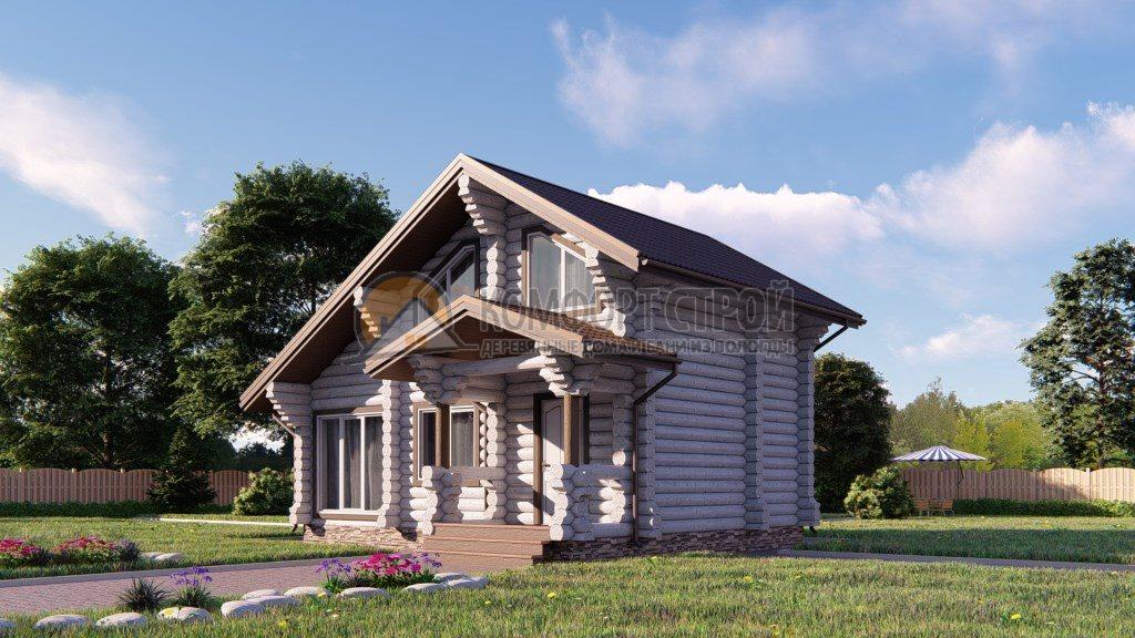 Проект Дом-Баня 182 Софьино 6.9х8.1