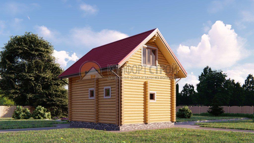 Проект Дом-Баня 176 Лесково 5.4х6.8