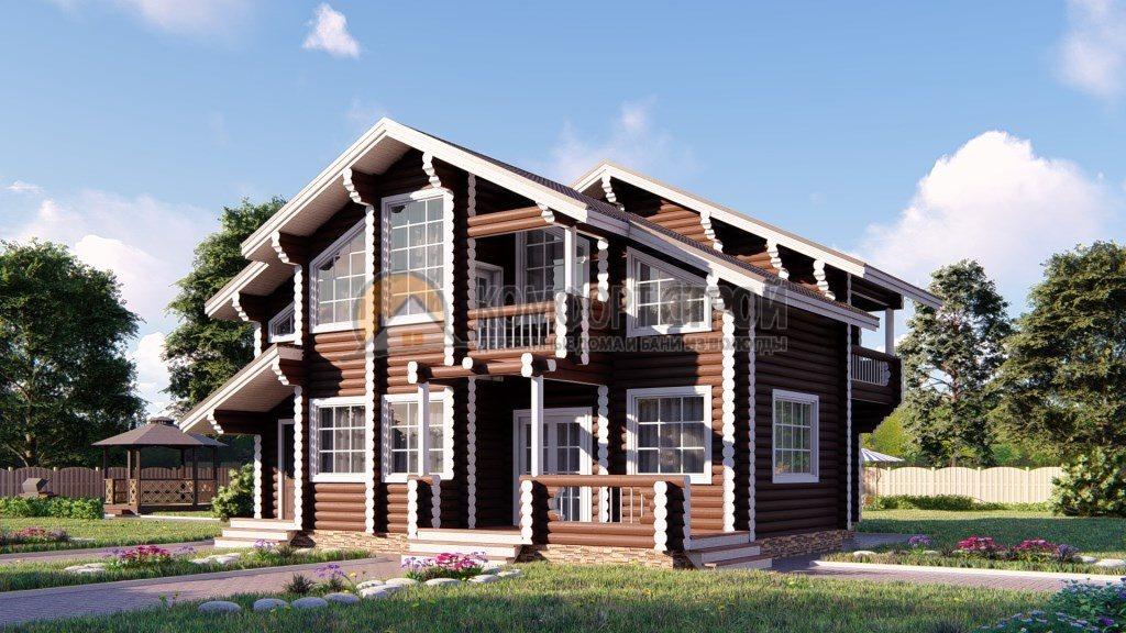 Проект Дом 185 Венге 10.6х11
