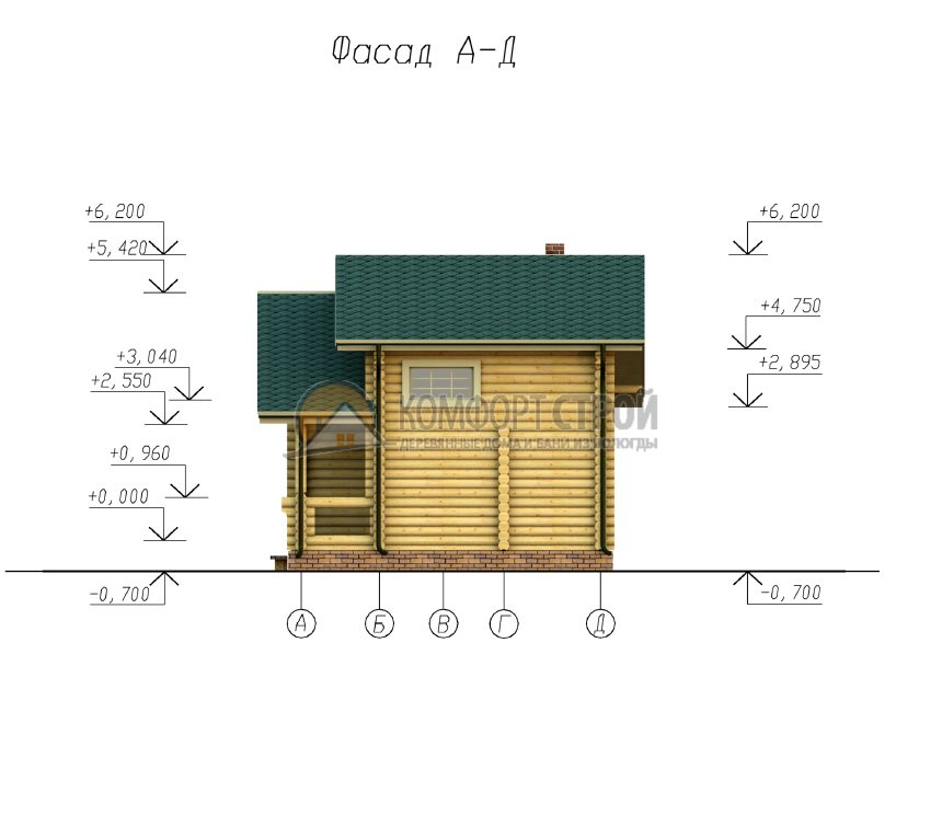 Проект №19 Опушкa 6.5х9.4