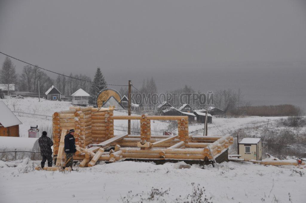 Проект Беседка 7 Зима 6.5х7